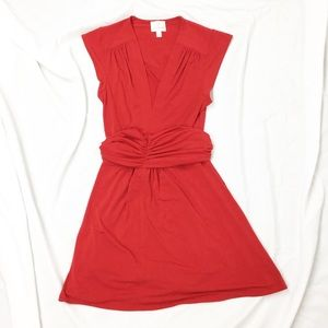 Julie Brown NYC Red Sash V-Neck Stretch Dress